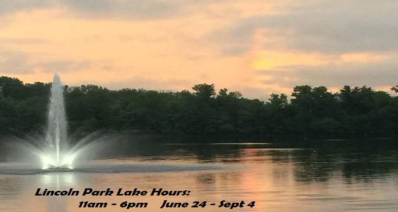 Lake fountain with hours - webx