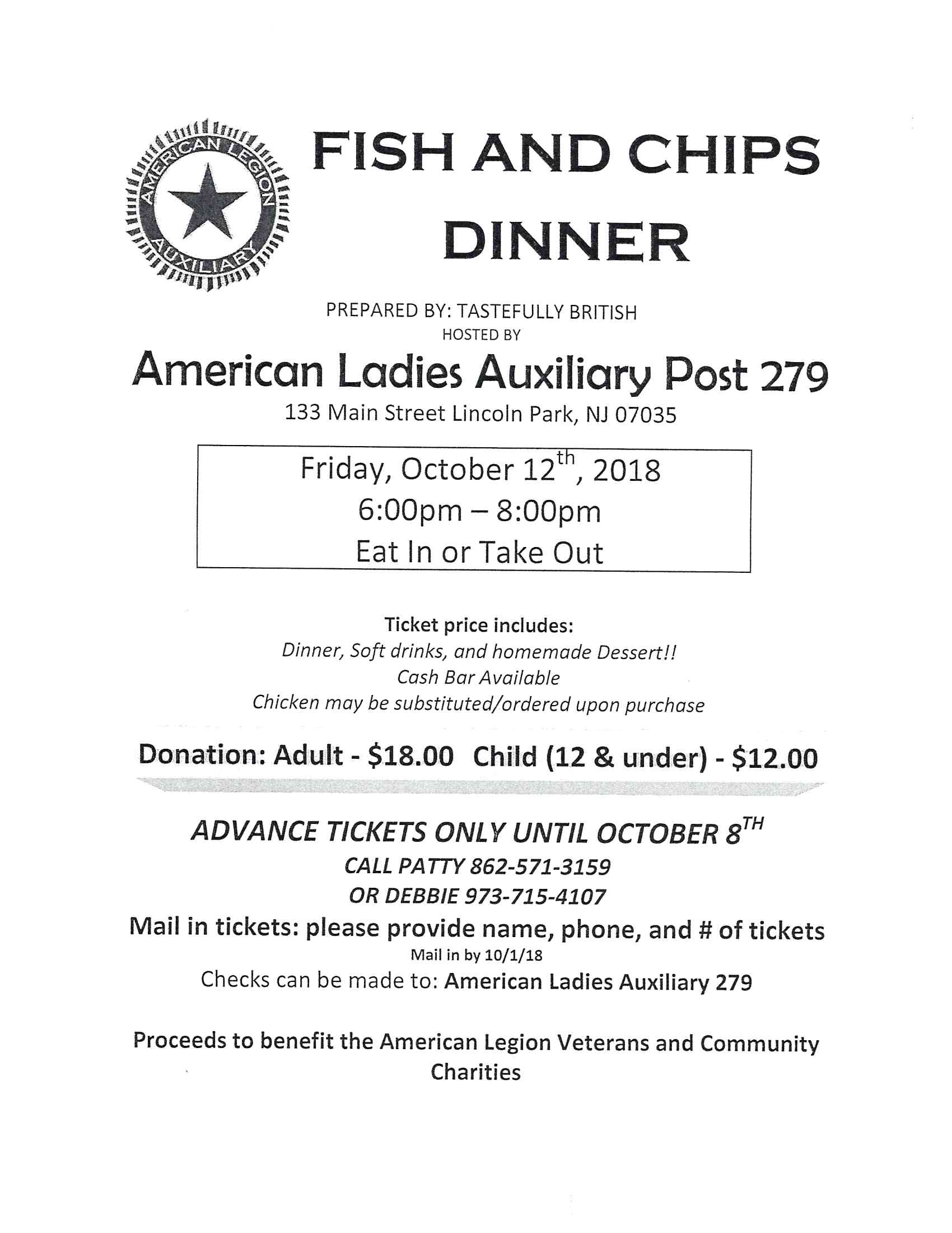 Amer Legion Fish and Chips