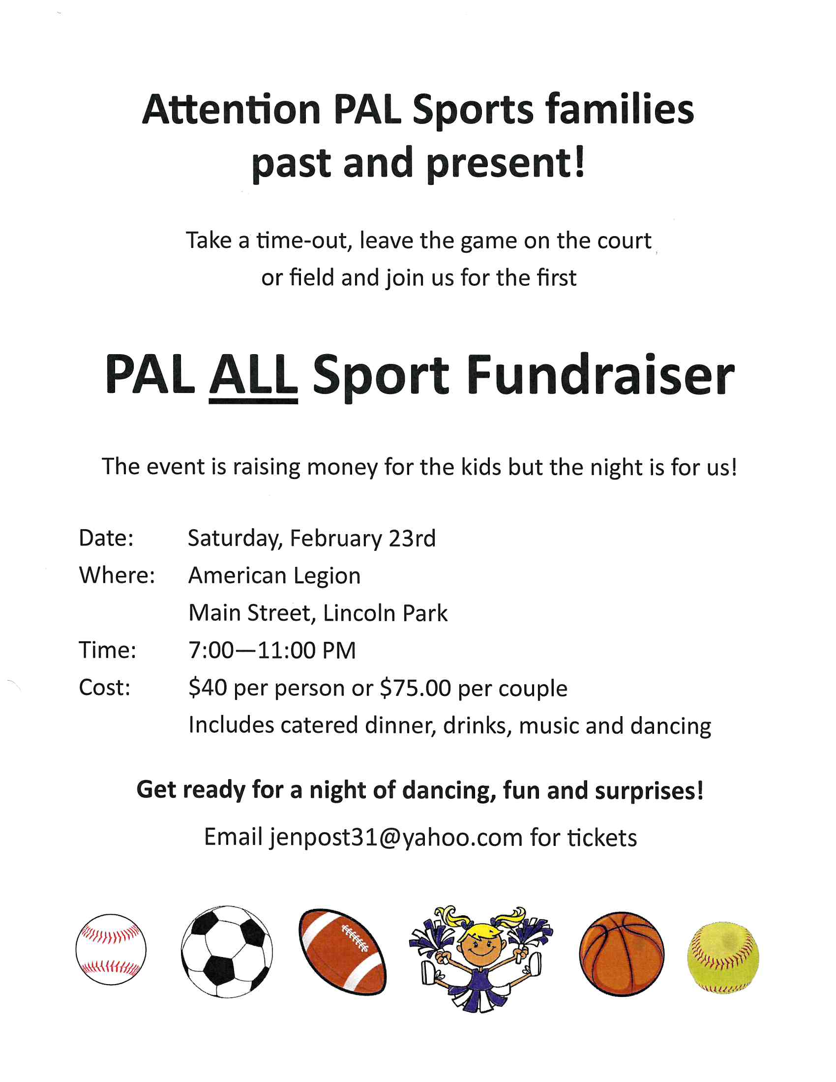 PAL Feb19 fundraiser