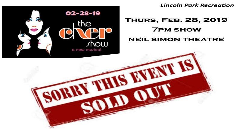 CHER SHOW-Ch 77 sold out