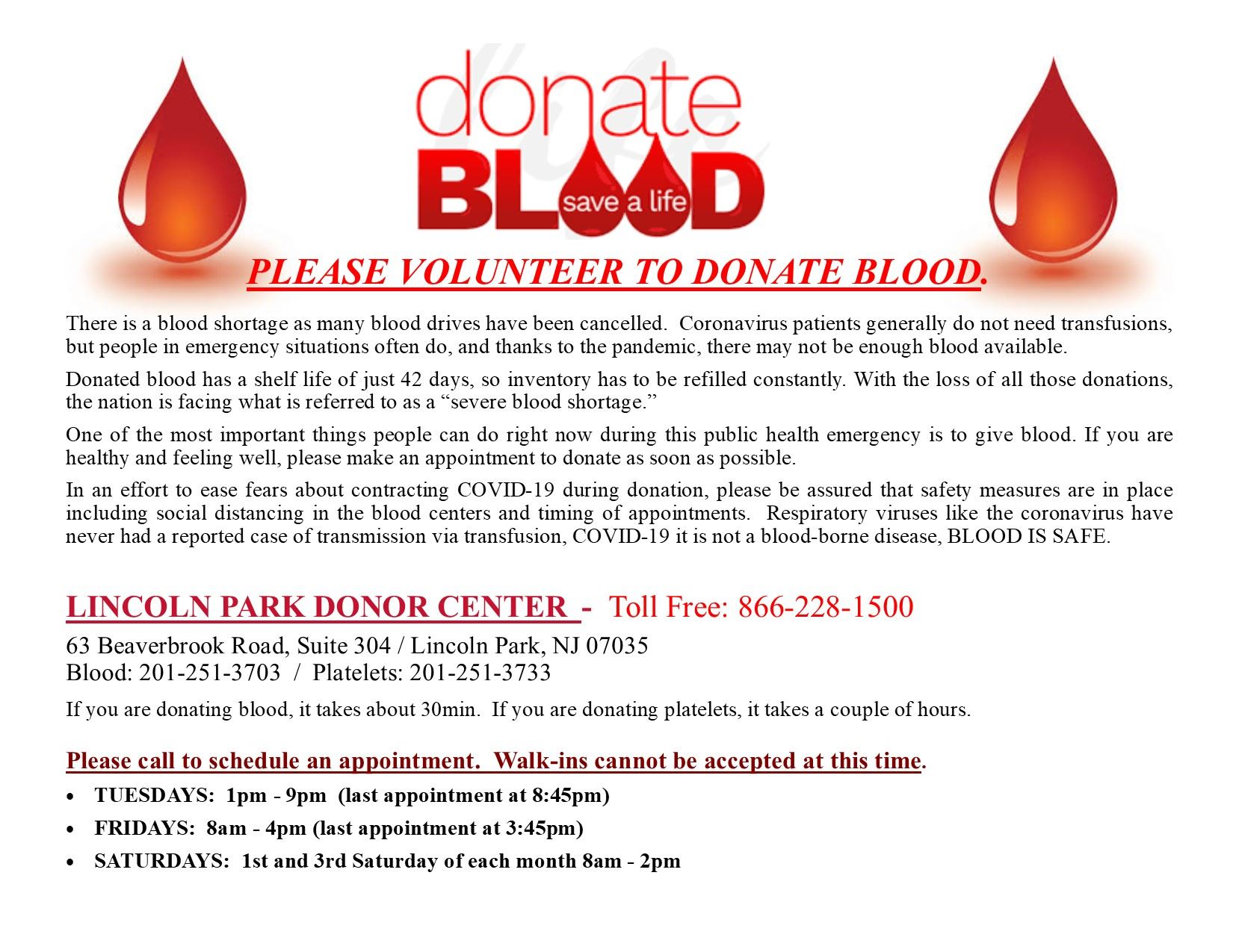 DONATE BLOOD-