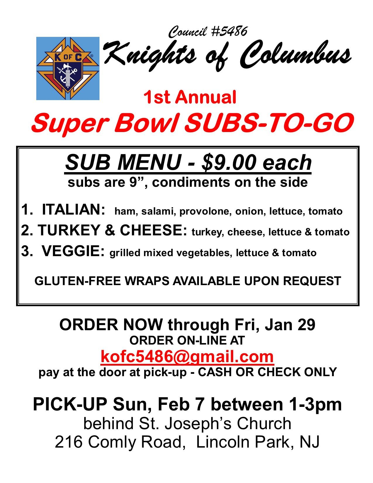 KOC SUBS TO GO