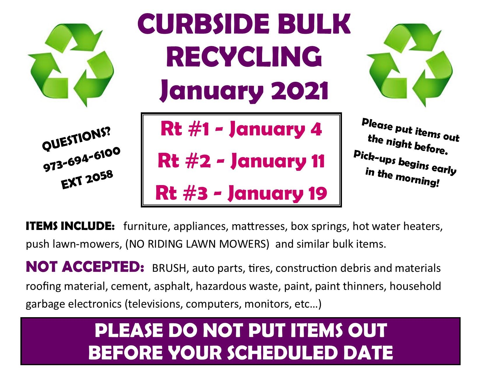 BULK RECYCLING - Jan
